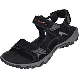 Columbia Santiam 3 Strap Sandals Men Black/Mountain Red